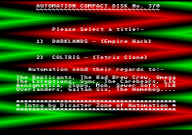 screenshot from disc 370