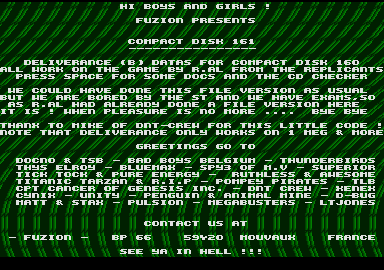 screenshot from disc 161