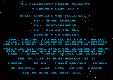 screenshot from disc 167